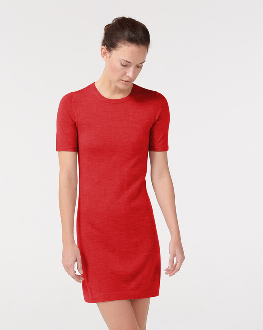 Robe manches courtes - Rouge gorge