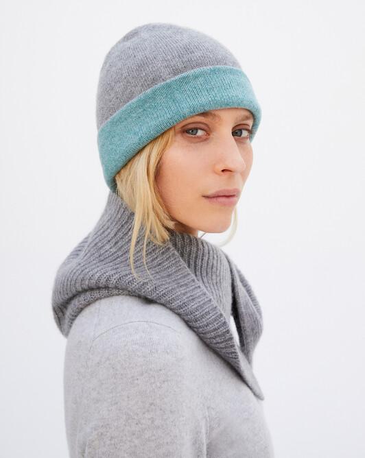 Bonnet déjaugé bicolore - Flanelle/epicea