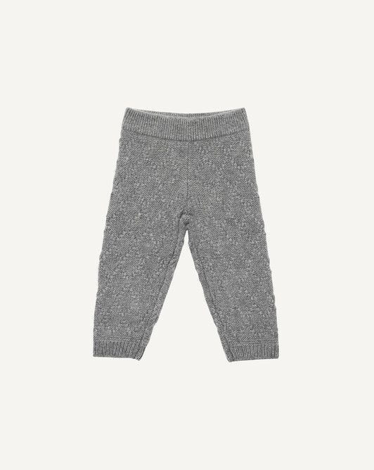 Garter stitch pants - Flannel grey