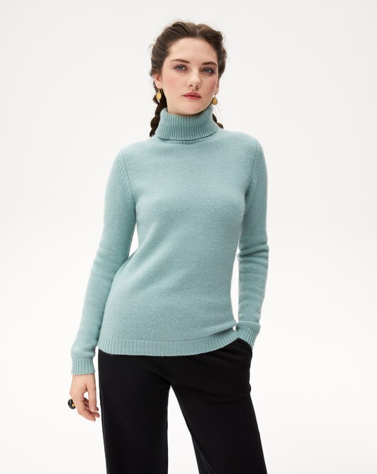 6-ply roll-neck - Spruce