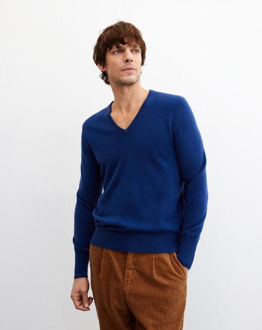 Classic V-neck pullover - Royal