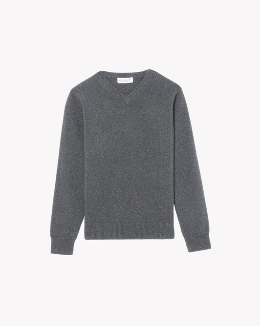 Kids classic V-neck sweater - College grey