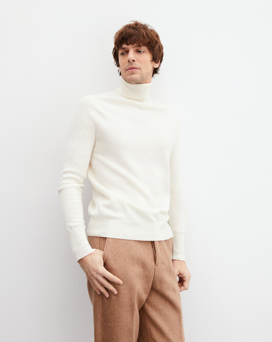 Classic roll-neck - Autumn white