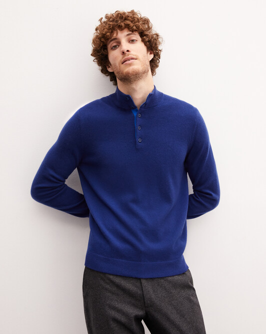 Sweat-shirt bicolore - Royal/cobalt