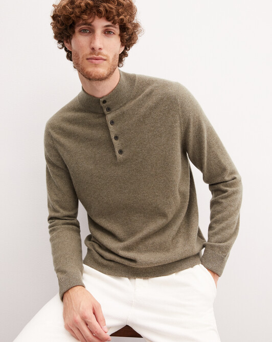 Two-tone sweatshirt - Khaki/zanskar