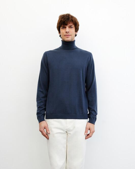 Contemporary extrafine roll-neck pullover - Incense
