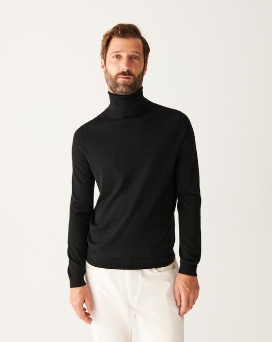Extrafine roll-neck sweater - Black