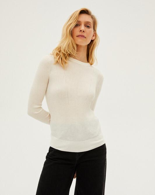 Rib crew-neck sweater - Canvas