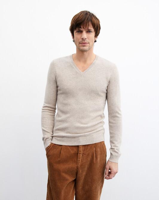 Fitted V-neck pullover - Zanskar