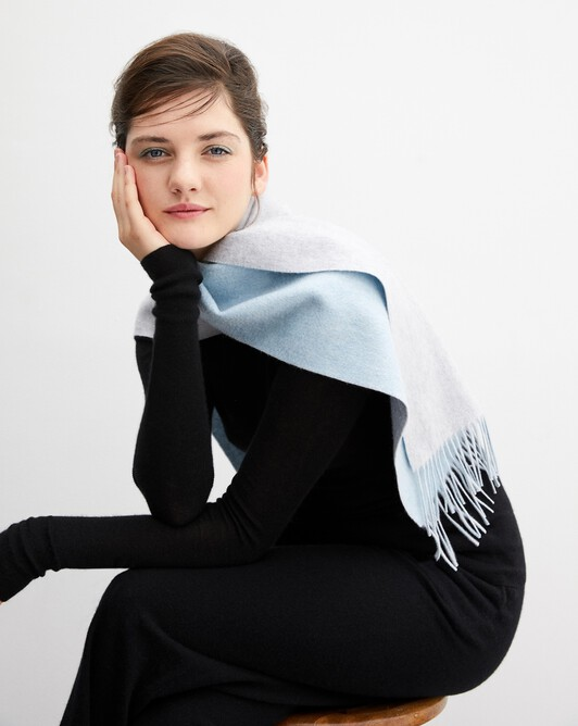 Two colour 175 cm x 35 cm - Frost grey/jean