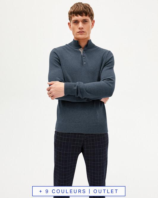Sweat-shirt bicolore - Gris orage/desert