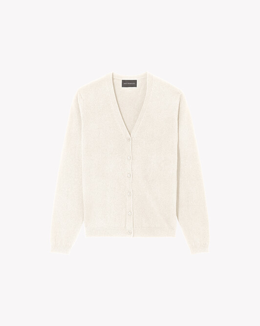 Fitted cardigan - Autumn white