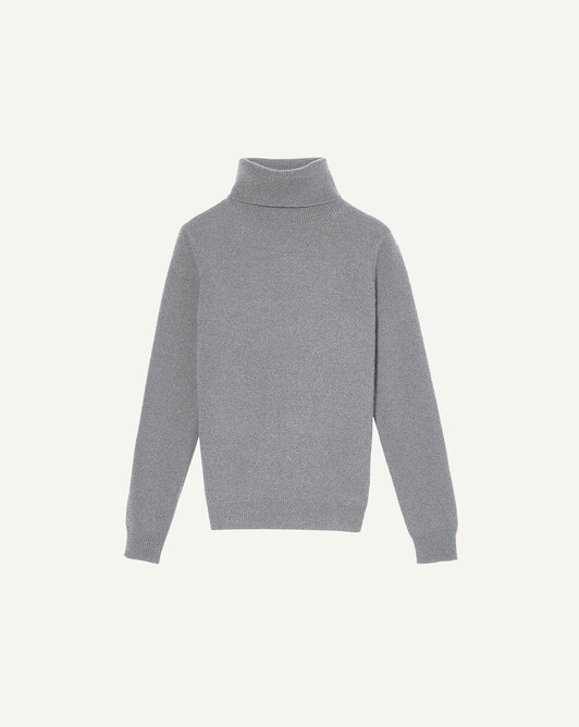 Classic polo neck sweater - Flannel grey