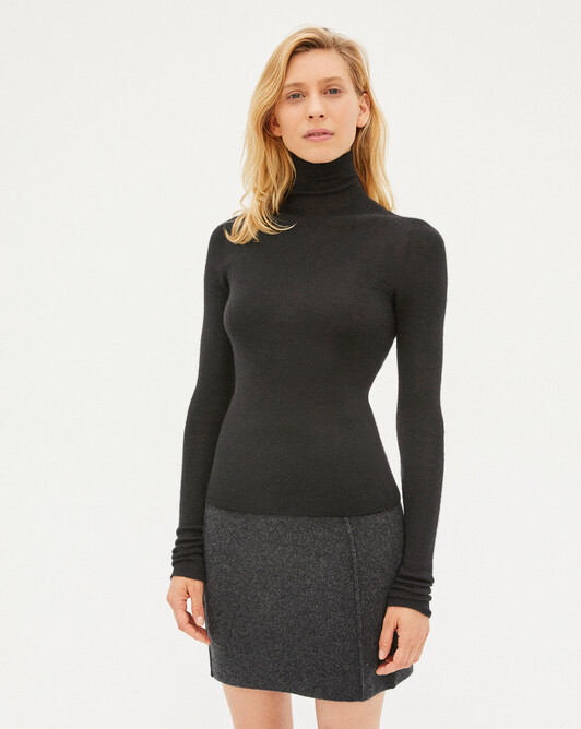Seamless extrafine roll-neck sweater sweater - College grey