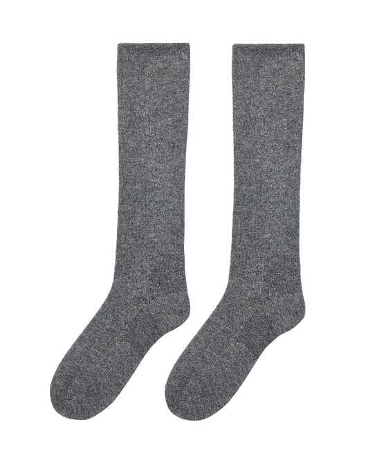 Plain long socks - College grey