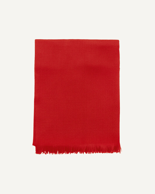 Cashmere voile stole 180 cm x 85 cm - Ruby red