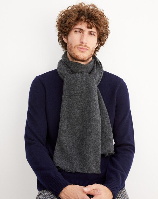 Off-gauge stole - Charcoal grey