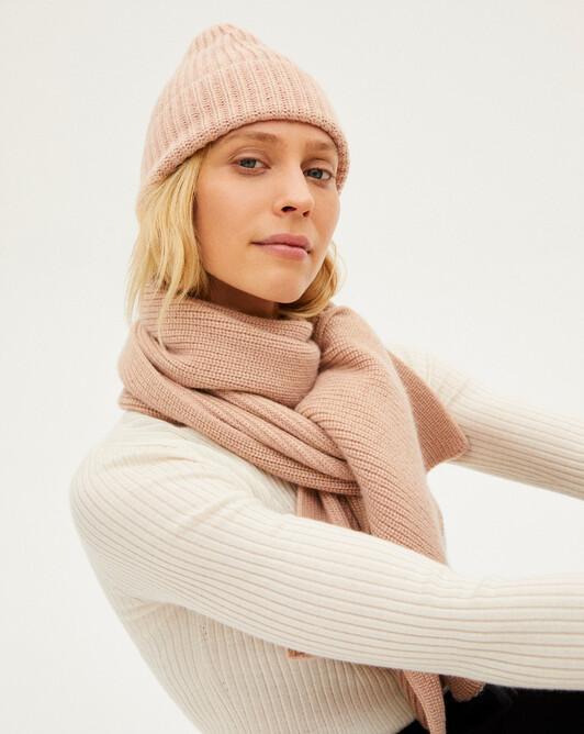 Metallic thread rib plaited scarf 170 x 32 cm - Make up