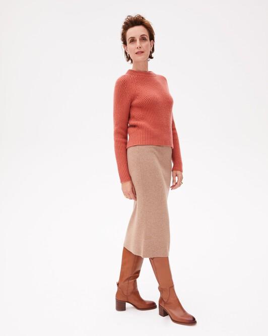 Jersey tube skirt - Camel