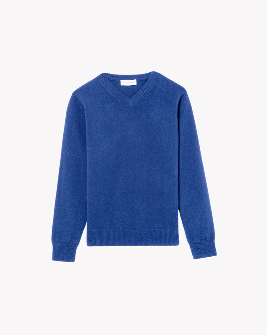Kids classic V-neck sweater - Royal