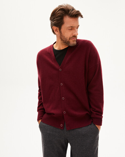 Gilet cachemire laine Indispensable - Dahlia