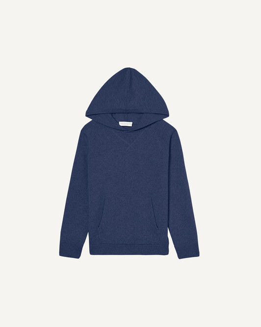 Casual hooded sweatshirt - Indigo