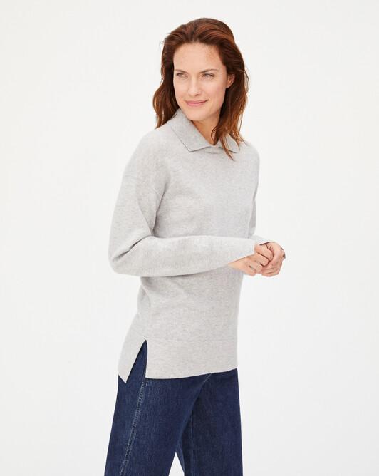 Col chemise ample poignets fendus - Givre