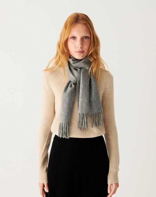 Classic scarf 170 x 35 cm - Flannel grey