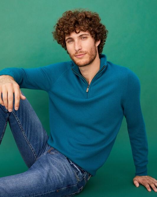 2-ply half-zip pullover - Yucca