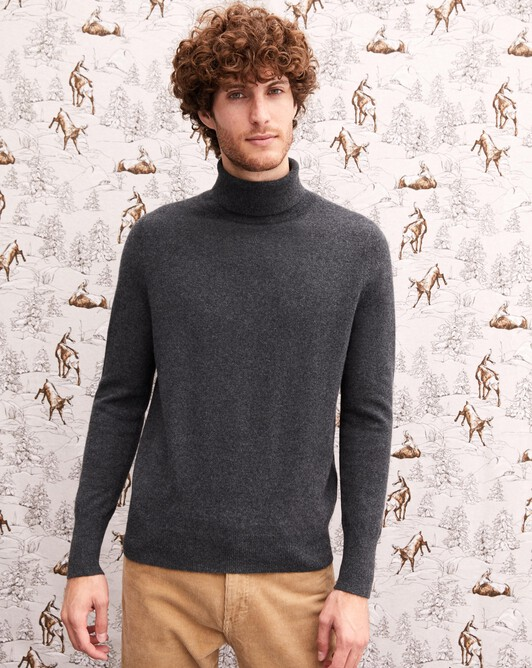 Classic roll-neck - Charcoal grey