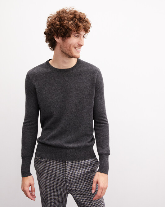 Classic crew neck pullover - Charcoal grey