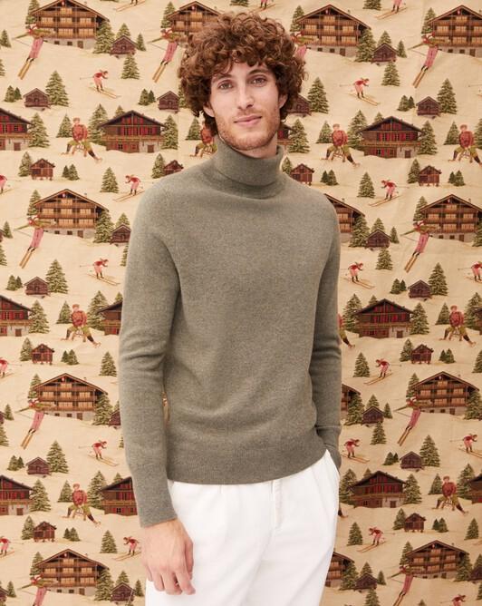 Classic roll-neck sweater - Khaki