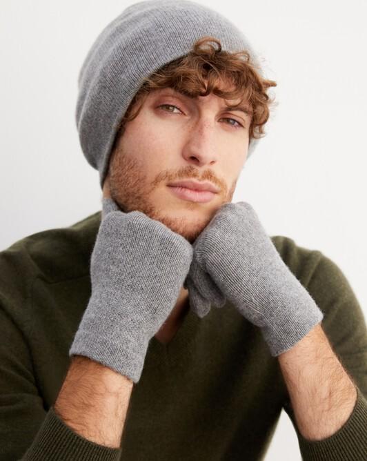 Men's gloves - Flannel grey
