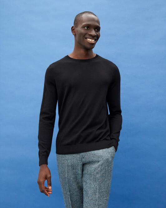Ras de cou ultrafin contemporain - Noir
