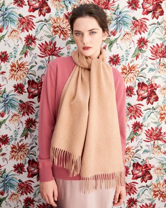 Classic scarf 170 cm x 35 cm - Camel