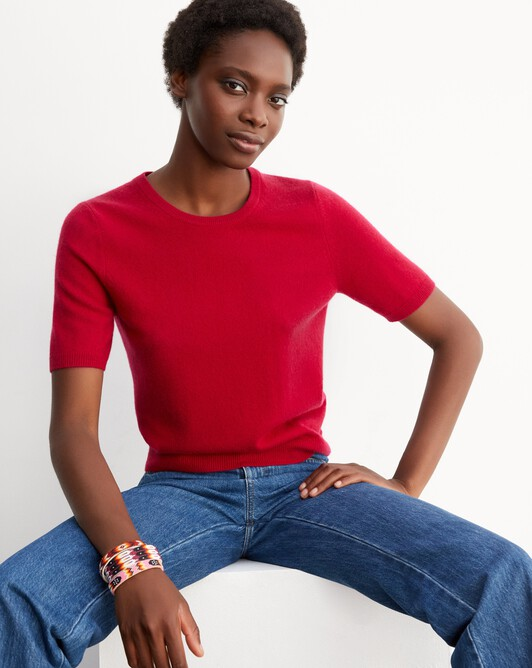 Classic short-sleeved crew neck pullover - Nepal
