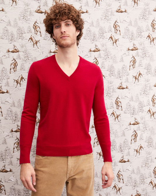 Classic V-neck pullover - Nepal