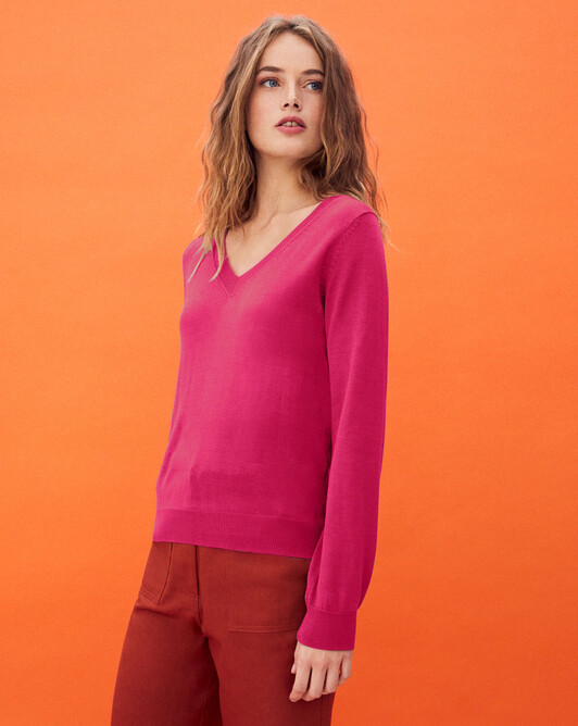 Silk v-neck sweater - Heat