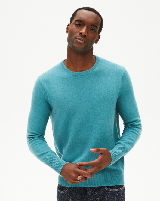 Classic crew neck sweater - Vetiver