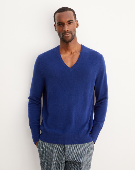 Classic V-neck pullover - Royal