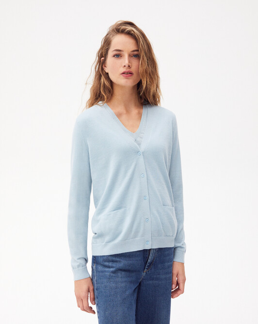 Extrafine v-neck cardigan - Jean