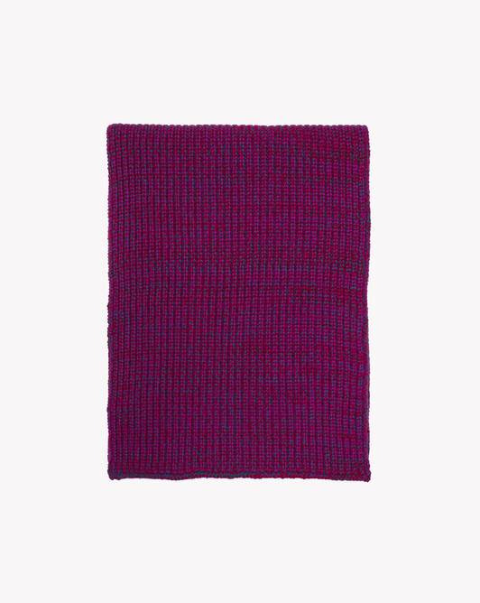 Écharpe mouliné tricolore 170 cm x 30 cm - Mouline fuchsia