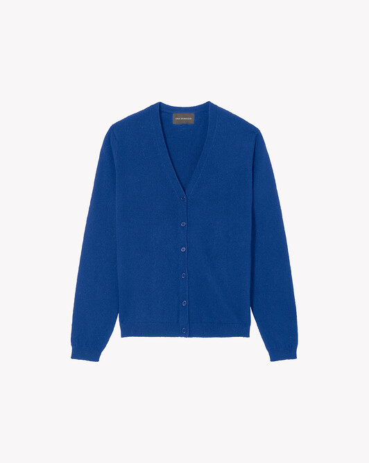 Fitted cardigan - Cobalt