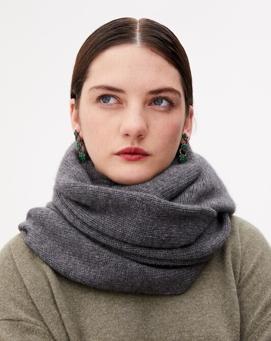 Knitted tube collar - College grey