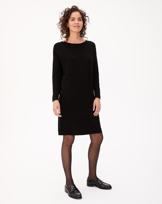 Jersey oversized dress - Black