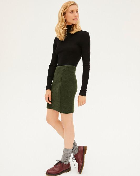 Cashmere milano short skirt - Kale