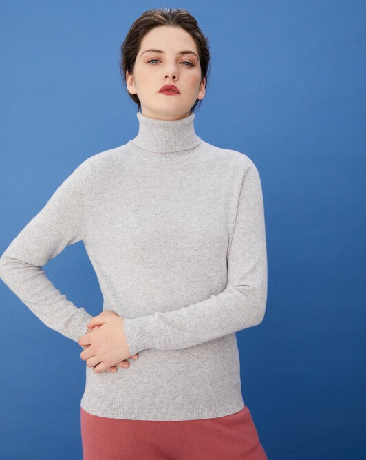 Classic roll-neck - Frost grey