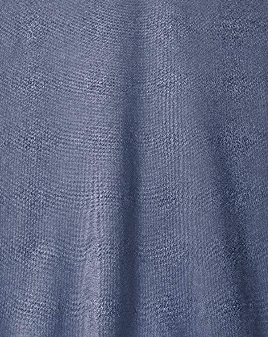 Pull V ultrafin contemporain - Denim