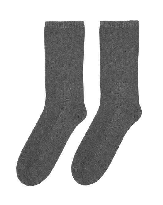 Plain short socks - College grey