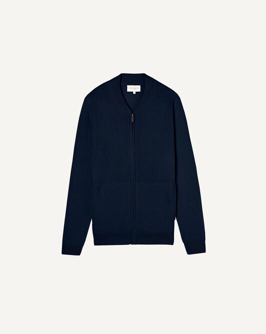 Zipped teddy - Navy blue